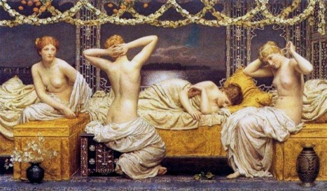 Albert_Joseph_Moore_-_A_Summer_Night_1890