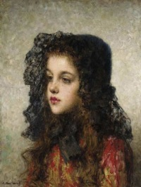 Alexei Harlamoff - Little Girl with Veil