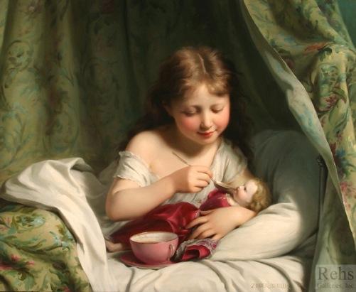 fritz_zuber_buhler_b1552_girl_feeding_her_doll