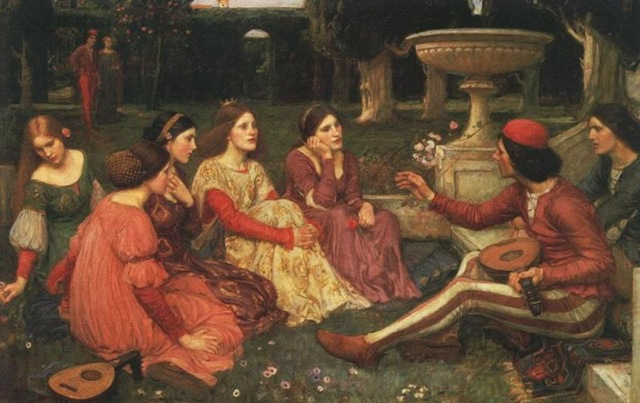 A Tale from Decameron (1916 Waterhouse)_jpg