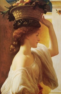 eucharis_-_a_girl_with_a_basket_of_fruit-Leighton