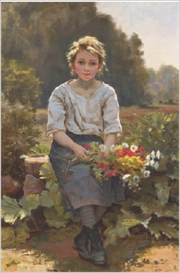 Cesar_Pattein_French_The_Flower_Girl