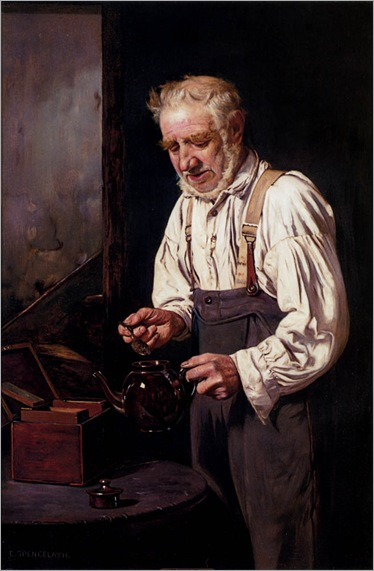 CharlesSpencelayh-making_the_tea