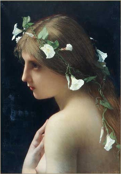 Lefebvre_Jules_Joseph_Nymph_with_morning_glory_flowers