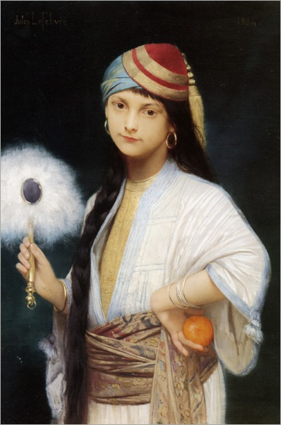 Lefebvre_Jules_Joseph_The_Feathered_Fan_1884