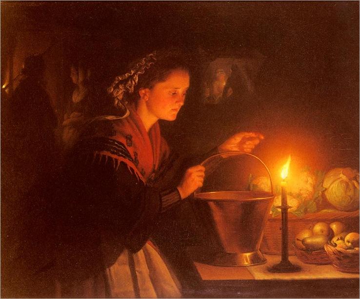 Schendel-Petrus-van-A-Market-Scene-By-Candlelight
