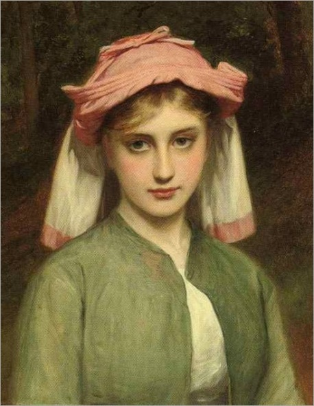 1zz Charles Sillem Lidderdale (British artist, 1831-1895) Young Girl in Forest 1878