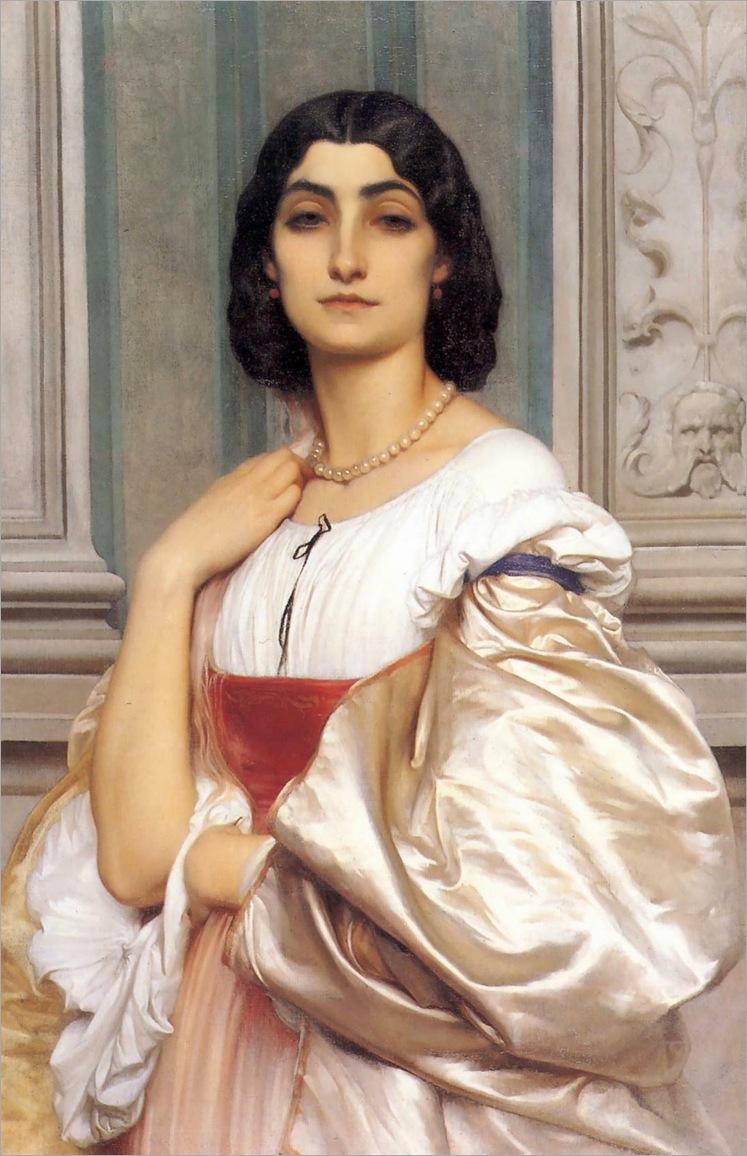 A Roman Lady (La Nanna)_(1858-1859)-leighton
