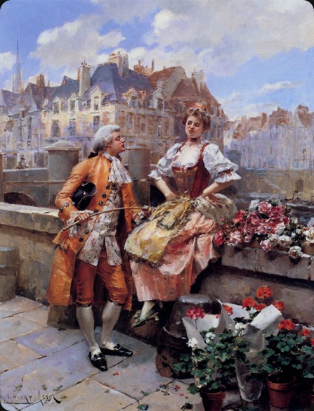 henriVictorLesur_the_flower_seller