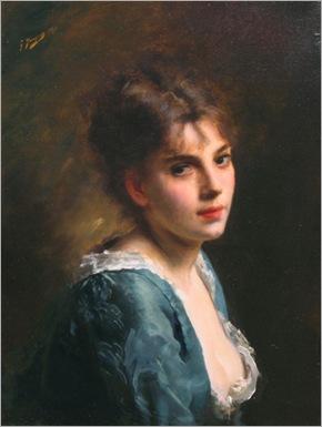 jeune fille en robe blueu-jacquet