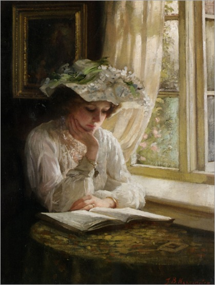 Kennington_Thomas_Benjamin_Lady_Reading_By_a_Window