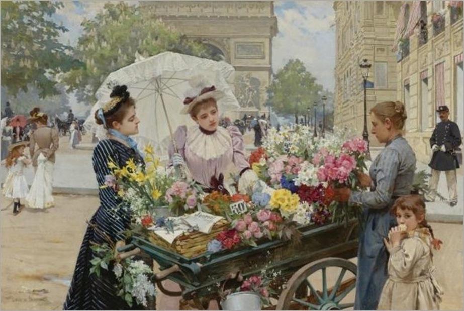 Louis-Marie-de-Schryver-The-Flower-Seller-15