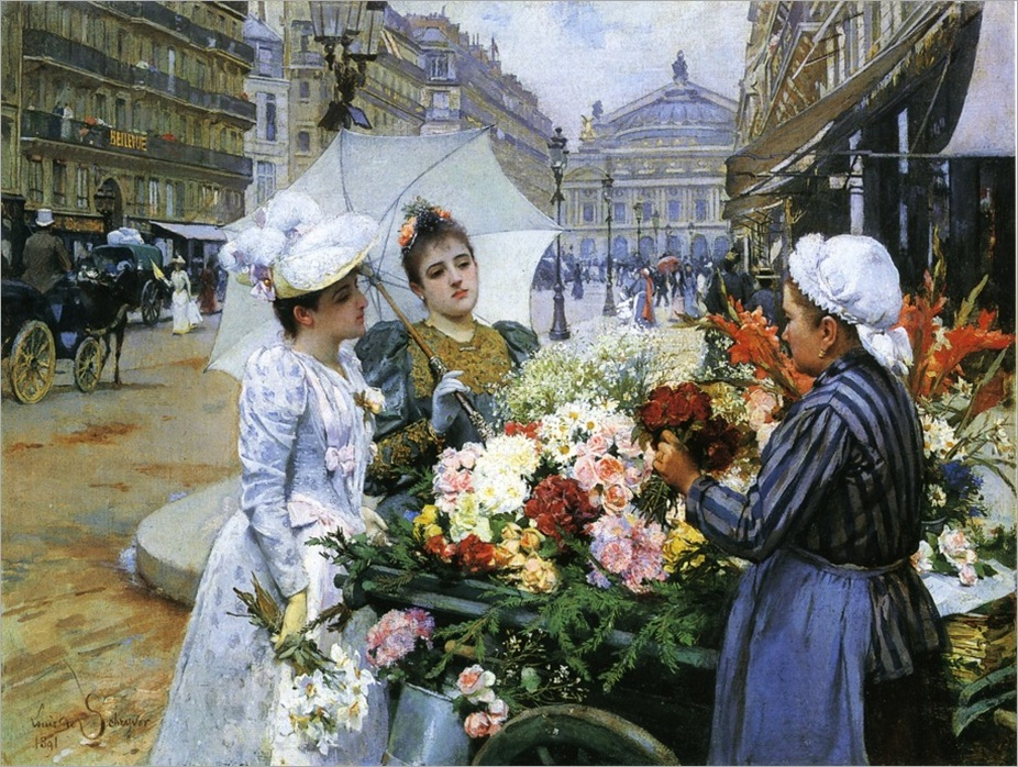 Louis-Marie-de-Schryver-The-Flower-Seller-Private-Collection