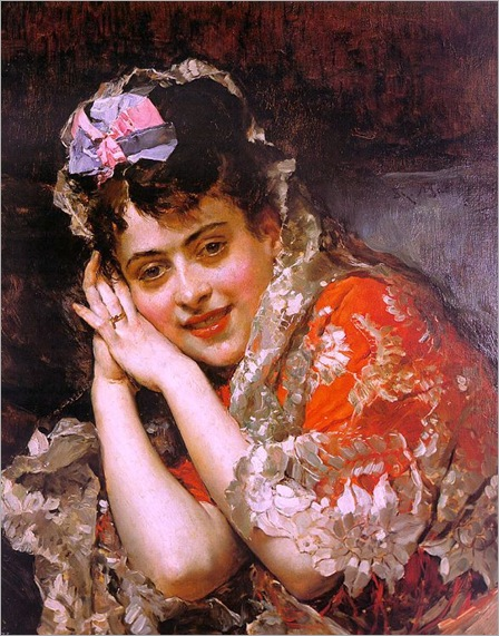 Raimundo_Madrazo_-_The_Model_Aline_Masson_with_a_White_Mantilla