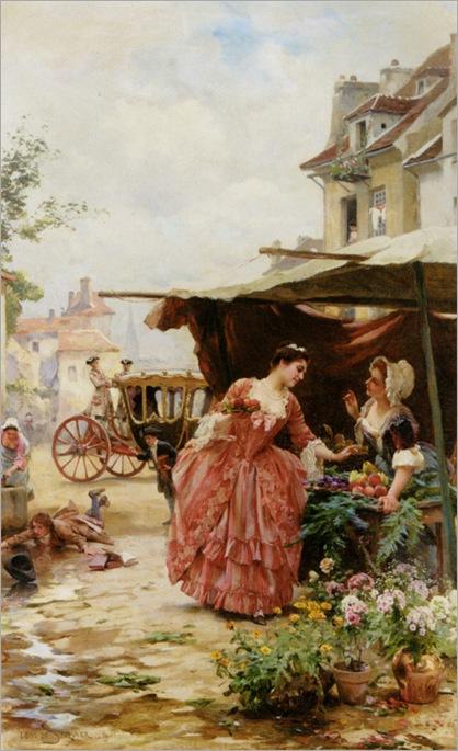 Schryver_Louis_Marie_De_Une_Marchande_de_Fruits_Et_De_Fleurs_1901