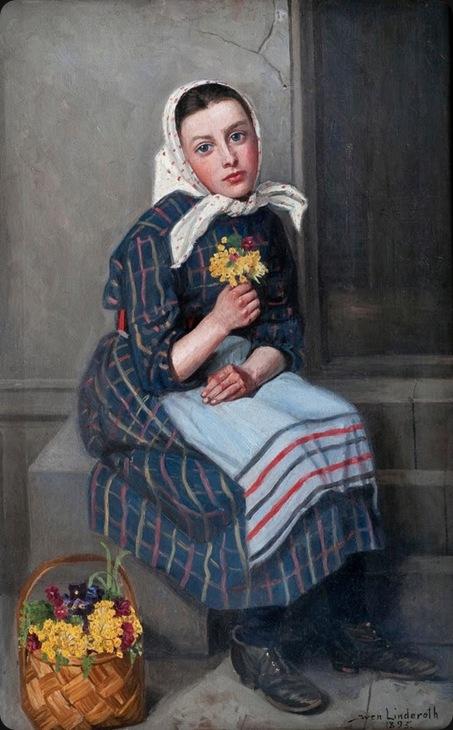 Sven Linderoth (Sweden, 1859-1934) «A girl» 1895