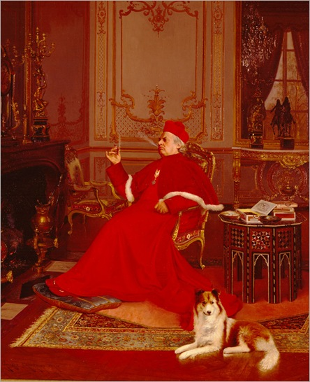 'A_Quiet_Smoke',_painting_by_Georges_Croegaert