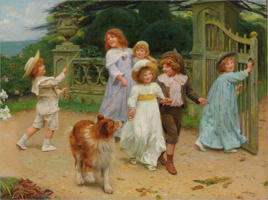 Arthur John Elsley (London 1860-1952) «Home Team» 1903