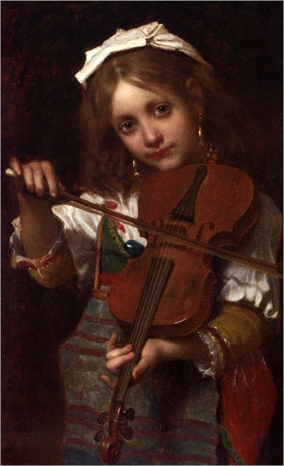 De_Coninck_Pierre_Louis_Joseph_The_Young_Violinist