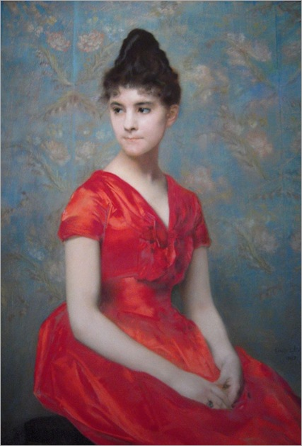 Emile_Levy_Jeune_fille_en_robe_rouge_1887