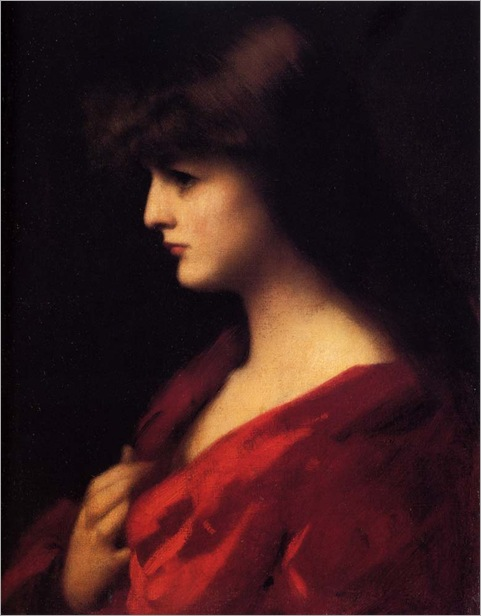Jean_Jacques_Henner_-_Study_Of_A_Woman_In_Red