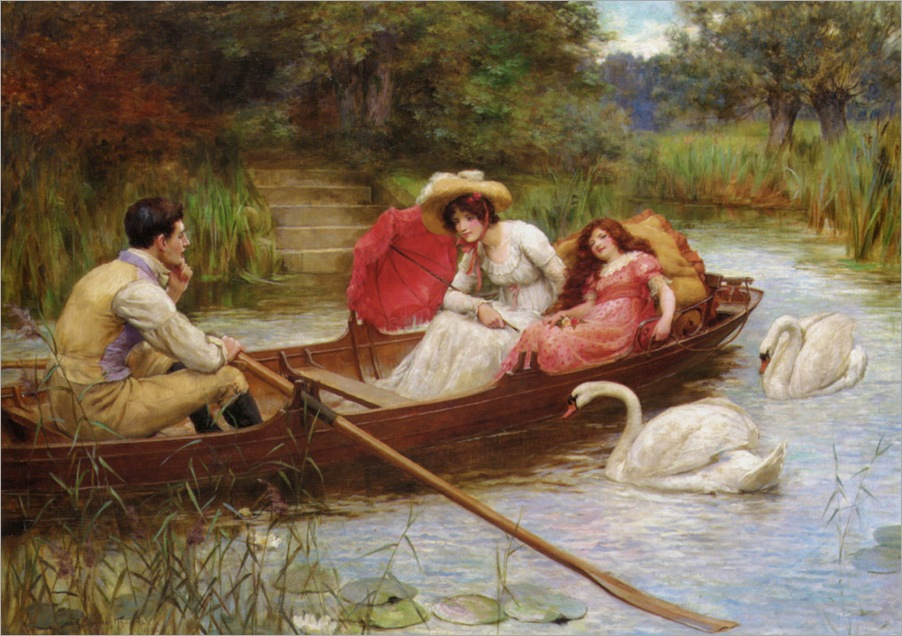Knowels_George_Sheridan_Summer_Pleasures_On_The_River_1908