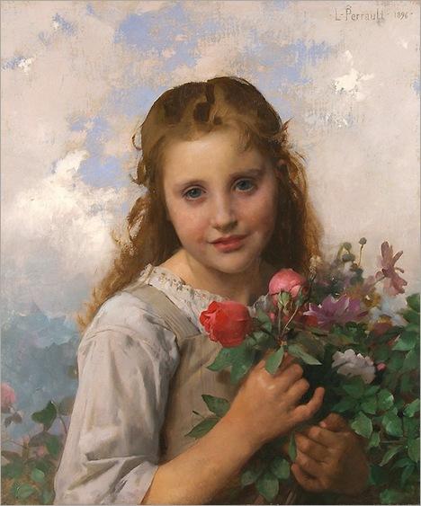 leon_jean_basile_perrault_b1151_petite_fille_au_bouquet_de_fleurs1
