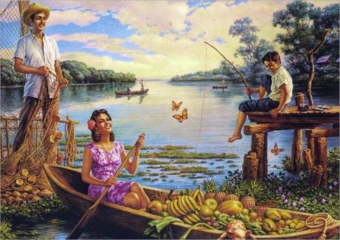Rio de las Mariposas, Óleo sobre lienzo, Jesus Helguera