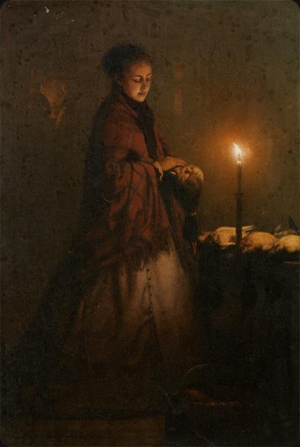 Schendel_Petrus_Van_Selling_Game_at_the_Groenmarkt_in_the_Hague_1868