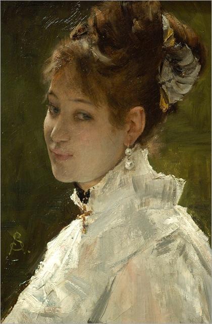 STEVENS_Alfred_Portrait_of_A_Young_Woman_CAROLUSDURAN_Emile_Auguste_Portrait_of_Lucy_LeeRobbins_1884