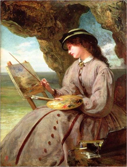 The-Fair-Amateur-1862-xx-Abraham-Solomon