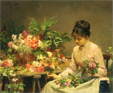 _Victor_Gabriel_Gilbert_The_Flower_Seller