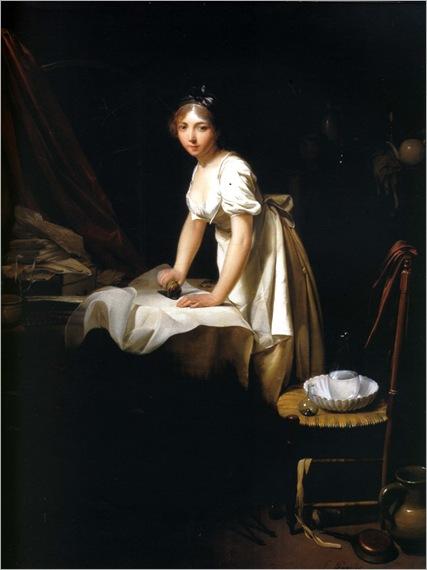 1800 louis léopold boilly, jeune femme repassant