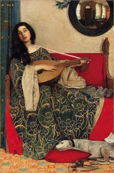 3 Frank Cadogan Cowper (English painter, 1877–1958) Mariana in the South