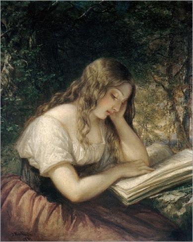 Daniel Huntington - Woman Reading
