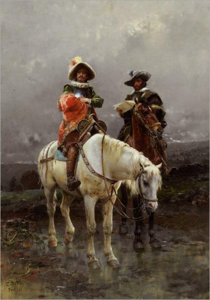 Detti_Cesare_Auguste_A_Cavalier_on_a_White_Horse_1890