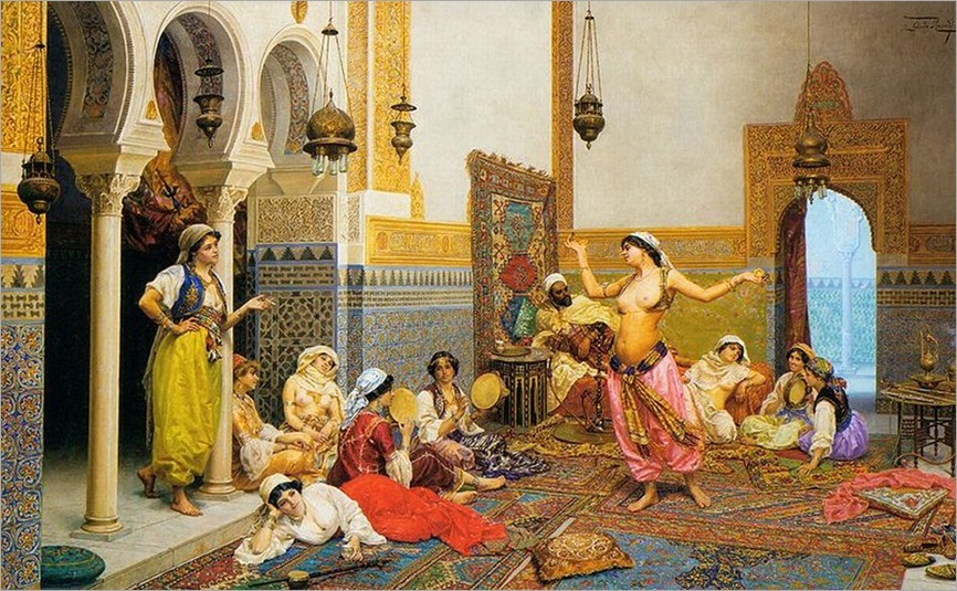 giulio-rosati-italian-painter-1858-1917-the-harem-dance