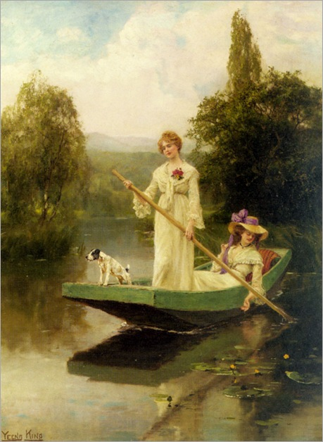 henryJohnYeendKing_two_ladies_punting_on_the_river