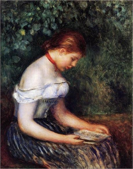 Pierre Auguste Renoir (1841-1919)The-Reader-La-Liseuse-also-known-as-Seated-Young-Woman-1887