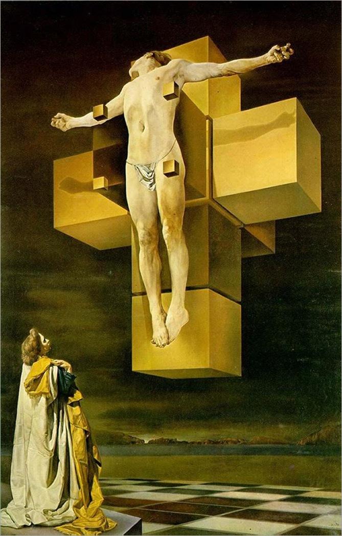 salvador dali_cristo crucificado