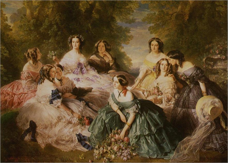 1853 1870 l'impératrice eugénie et ses dames d'honneur,- f.x. winterhalter