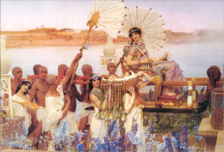 1904_Lawrence_Alma-Tadema_-_The_Finding_of_Moses