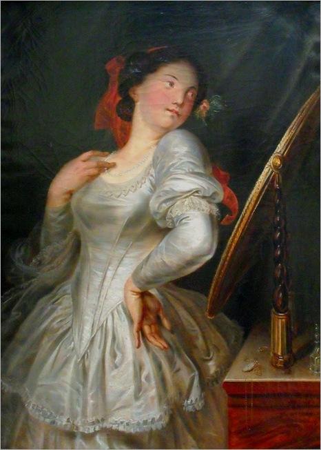 Antoine Wiertz, La coquette habillée (Le miroir du Diable)1856