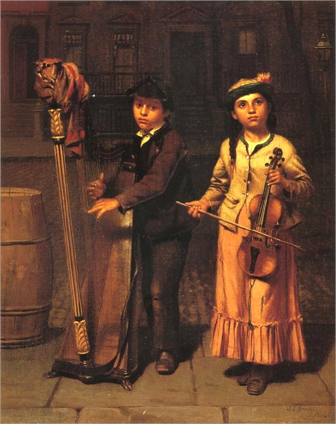Brown, John George (1831-1913) - The Two Musicians, 1874