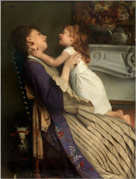 EMILE LEVY (PARIS 1826 - PARIS 1890)« MOTHER AND DAUGHTER»