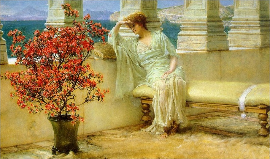 Her eyes are with Her thoghts - Lawrence Alma-Tadema