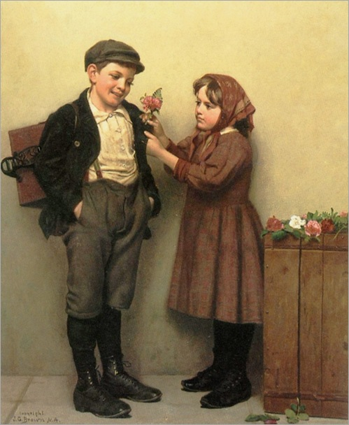 John_George_Brown_The_Button_Hole_Posey1894