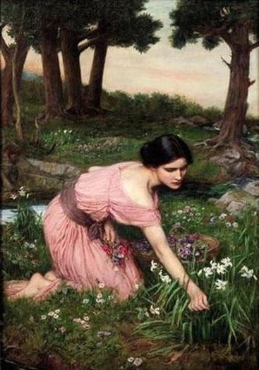 John_William_Waterhouse_-_Spring_Spreads_One_Green_Lap_of_Flowers