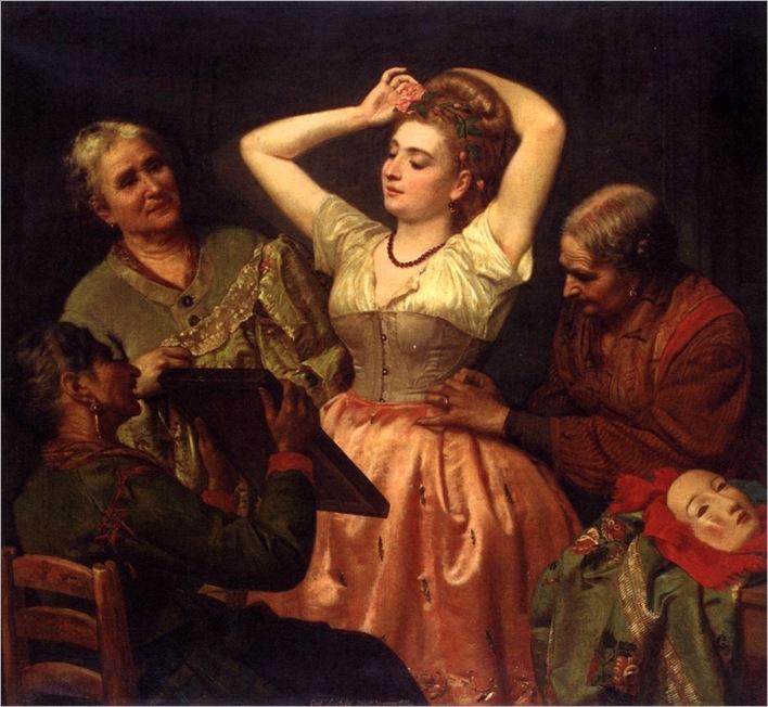 Locatello_Gian_Francesco_Preparing_For_The_Carnevale_1872_Oil_On_Canvas