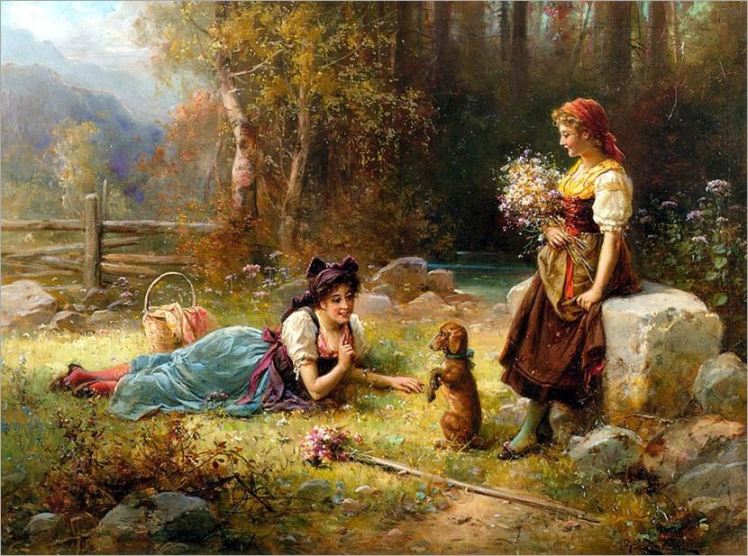 Zatzka_Hans_Obedience_Oil_On_Canvas